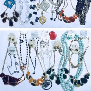 Jewelry - NWT- 60pc Fashion Jewelry Necklaces and earrings